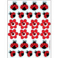 Fancy Ladybug Stickers 4 Sheets