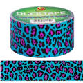 Blue Leopard Print Duck Tape