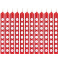 Red Polka Dot Candles 12ct
