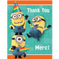 Despicable Me Thank You Notes 8ct