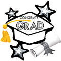 White Star Graduation Cap Graduation Balloon