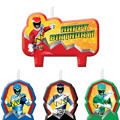 Power Rangers Birthday Candles 4ct