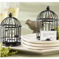 Black Birdcage Tealight Candle & Place Card Holder