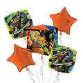 Teenage Mutant Ninja Turtles Balloon Bouquet 5pc - Cubez