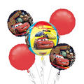 Cars Birthday Balloon Bouquet 5pc - Orbz