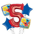 Sesame Street 5th Birthday Balloon Bouquet 5pc