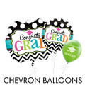 Chevron & Dots Graduation Balloons