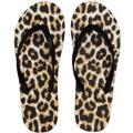 Black Leopard Flip Flops