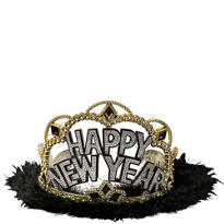 Black & Gold New Years Tiara