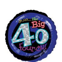40th Birthday Balloon - Round Oh No!