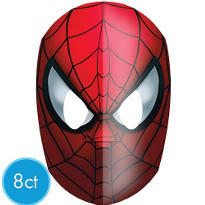 Spiderman Masks 8ct