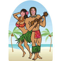 Life-Size Luau Photo Cutout 72in