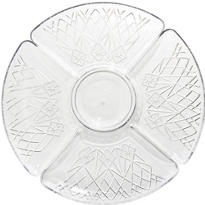 CLEAR Plastic Crystal Cut Lazy Susan