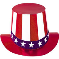 Red, White & Blue Foil Top Hat