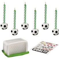 Soccer Cake Topper Set with Decals 14ct