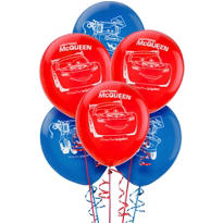 Happy Birthday Bright Cars Balloons 6ct