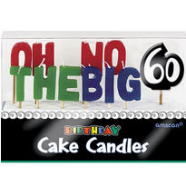 Oh No 60th Birthday Candle Set 11pc