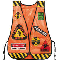 Orange Old Zone Safety Vest