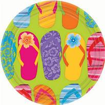 Flip Flop Dessert Plates 8ct