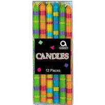 Striped Birthday Candles 3 1/2in 12ct