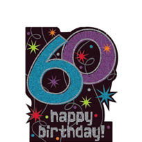 The Party Continues 60th Birthday Large 14 1/2in Cutout