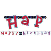 60th Birthday Letter Banner 8ft