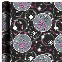 Sweet 16 Foil Gift Wrap