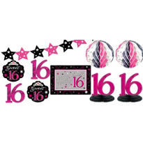 Sweet 16 Sparkle Room Decorating Kit 10pc