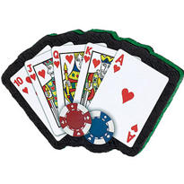 Poker Hand Pinata 21in
