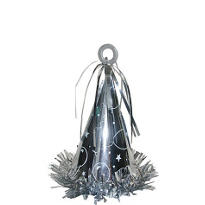 Silver Party Hat Balloon Weight 6oz