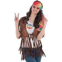 Adult Feelin' Groovy Fringe Vest