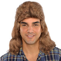 Flat Mullet Wig