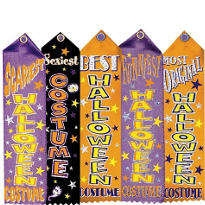 Halloween Costume Award Ribbons 5ct
