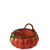 Small Pumpkin Basket 5in