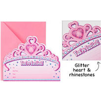 Princess for a Day Jumbo Invitations 8ct