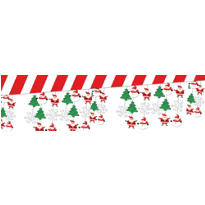 Snowman & Santa Foil Ceiling Decoration 10ft