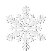 White Glitter Snowflake Hanging Decoration 11in