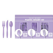 Lavender Cutlery Set 210pc