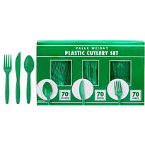 Festive Green Cutlery Set 210pc