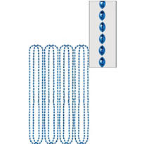 Blue Bead Necklaces 32in 8ct