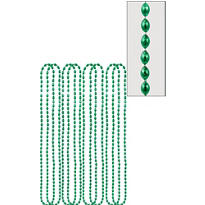 Green Bead Necklaces 32in 8ct