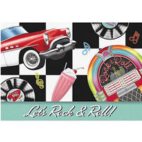 Invite Folded Rock N Roll Invitations 8ct