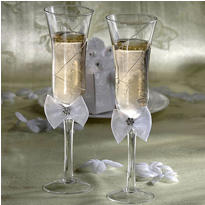 Graceful Wedding Toasting Glasses