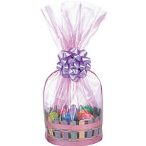 Pink Cello Basket Bags 25in 2ct