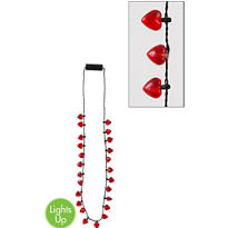 Light-Up Hearts Bead Necklace 32in