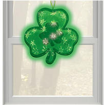 St. Patricks Day Holographic Window Sculpture 15in