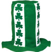 St. Patricks Day Stovepipe Top Hat