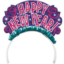 Colorful New Years Tiara 7 1/2in