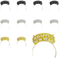 Gold and Silver New Years Tiaras 7 1/2in 12ct <span class=messagesale><br><b>75¢ per piece!</b></br></span>