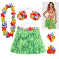 Adult Hula Skirt Kit